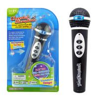 ingrosso divertenti giocattoli di canto-Microfono per bambini Giocattolo Microfono di simulazione Per bambini Microfono moderno Mic Karaoke Cantare Capretto Ragazze Ragazzi Giocattoli divertenti Giocattoli musicali regalo