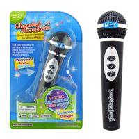 karaoke oyuncak toptan satış-Çocuklar Çocuklar Için Mikrofon Oyuncak Simülasyon Mikrofon Modern Mikrofon Mikrofon Karaoke Singing Çocuk Kız Erkek Komik Oyuncaklar Hediye Müzik Oyuncak