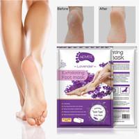 spa-fußbehandlungen groihandel-Zitrone Aloe Peeling Fußmaske Hand Mask Socken Peel Off entfernen abgestorbene Haut Fußpflege Spa-Behandlungen 2Pcs = 1 Paar Moisturizin