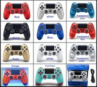 Wholesale game dual joystick for sale - Group buy NEW PS4 Wireless Bluetooth Game controller with light SLIM for PS4 Controller Dual Double Shock Joystick Gamepads for PlayStati DHL free