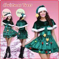 yılbaşı ağacı kostümleri toptan satış-2017 Yeni Yılbaşı Kostüm Yeşil Noel Ağacı Kostüm
