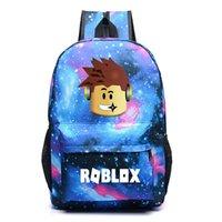 kızlar için kitap çantaları toptan satış-Roblox Oyunu Erkek Okul Çantası Sırt Çantası Öğrenci Kitap Çantası Dizüstü Günlük Sırt Çantası Mochila Erkek Kız Hediye Y19061004