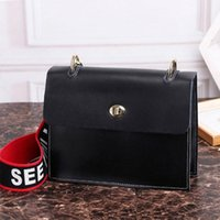 Wholesale new handbag trends for sale - Group buy Real leather handbag Europe and the new fashion Messenger bag Korean version of the small square bag trend wild shoulder bag