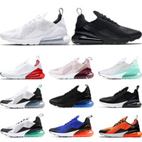 мяты зеленые туфли оптовых-Nike air max 270 Кроссовки для мужчин тройной черный белый едва Роза университет Красный мята зеленый виноград Тигр женские спортивные кроссовки Кроссовки размер 36-45