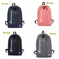 Wholesale school bag trendy resale online - Letter Backpack Color Matching Oxford Fabric Shoulder Bags Rucksack Trendy Students School Bag Sports Travel Storage Rucksack MMA1782