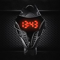 ingrosso orologio digitale quadrante nero-Vigilanza di sport maschio di vendita calda degli uomini di lusso di colore nero LED Digital orologio al quarzo quadrante a triangolo in silicone sport orologi elettronici #
