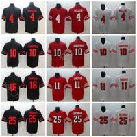 San Francisco 49ers Football 4 Nick Mullens Jersey Men Red White 10 Jimmy  Garoppolo 11 Marquise Goodwin 25 Richard Sherman 56 Reuben Foster 80c2201ed