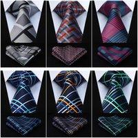 lenço marrom venda por atacado-Lenço lenço da gravata dos homens do tecido TC712Z8S Brown Mantas xadrez verifica 3.4