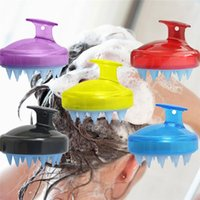 Wholesale scalp brush new for sale - Group buy Rakado PC Spa Slimming Massage Brush Silicone Head Body Shampoo Scalp Comb Hair Washing Shower Bath Props Soft Styling Tool New