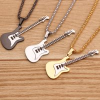 Wholesale fashion guitar pendant for sale - Group buy CHICVIE Fashion Guitar Pendants Necklaces For Women Hip hop Jewelry Rock Guitar Necklace Punk Music Necklaces SNE190314