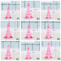 ingrosso miniature accessori-Torre Eiffel Resina Artigianale In Miniatura Fata Giardino Decorazione Camera Da Tavolo Micro Paesaggio Accessorio Cactus Fioriera Regalo Novità Articoli GGA2013