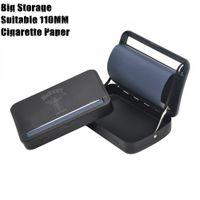 caixa automática da máquina de rolamento do rolo do cigarro venda por atacado-Caixa de Máquina de Rolamento Automática de Metal Caixa de Cigarro Rolo de Tabaco Para 110 MM Papéis Cone de Rolagem de Cigarro de Papel Tubo de Fumo de Metal Erva Seca