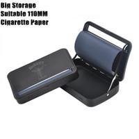 otomatik sigara kutusu toptan satış-Metal Otomatik Haddeleme Makinesi Kutusu Kasa Sigara Tütün Rulo Için 110 MM Kağıtları Sigara Haddeleme Koni Kağıt Metal Sigara Boru kuru Ot