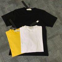 sudaderas blancas de manga corta al por mayor-Nuevo Negro Blanco Amarillo Moda Hombre Camiseta de manga corta Hip Hop Sudaderas Ropa Casual # 635 M-2XL