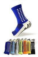 sıcak erkekler çorap futbol toptan satış-Yeni Çorap Katı Sıcak Stil Kayma Futbol Futbol Spor Çorap Unisex Bay Bayan Çorap Çoklu Renk