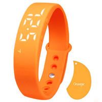 Wholesale smart watch w5 online – W5 Pedometer Sleep Monitor Temperature Bracelet Smart Watch