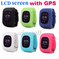 ingrosso guardare gsm sos-50pcs LCD Q50 bambini GPS Tracker bambini Smart Watch telefono SIM Quad Band GSM sicuro SOS Q80 Q90 per Android IOS