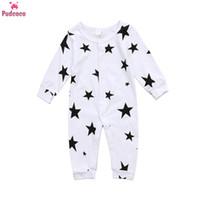 Wholesale baby winter romper patterns resale online - Autumn Winter Newborn Jumpsuit Baby Boy Clothes Cotton Warm Romper Baby Girl Onesie Stars Pattern Infant Rompers