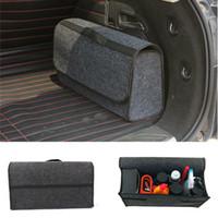 araba düzenli çantaları toptan satış-Araba Trunk Katlanabilir Boot Organizer Katlanabilir Depolama Tutucu Çantası Seyahat Düzenli Kutu
