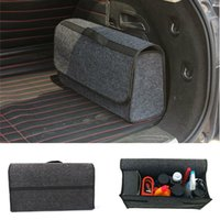 Wholesale car trunk boxes for sale - Group buy Car Trunk Foldable Boot Organiser Collapsible Storage Holder Bag Travel Tidy Box
