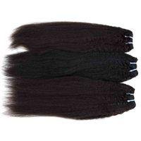 ingrosso prodotti per capelli cinesi naturali-Cambogiano mongolo vietnamita capelli umani vergini 3/4/5 pacchi kinky etero indiano malese cinese prodotti per capelli 12-28 pollice colore naturale