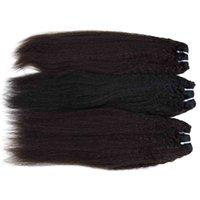 indian chinese products venda por atacado-Cambojano mongol vietnamita virgem do cabelo humano 3/4/5 bundles kinky em linha reta indiano da malaio chinês produtos de cabelo 12-28 polegada cor natural