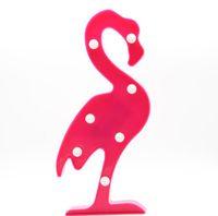 детские душевые оптовых-3D Рождество Мини Фламинго Ананас Кактус Стиль 3D Night Light Baby Shower Marquee LED Письмо Лампа Спальня Украшения
