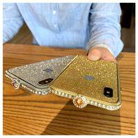 iphone bumper bling crystal al por mayor-Lujo Bling Diamond Bumper para iPhone X XS MAX 8 7 Plus 6 s caso de moda Glitter Crystal Rhinestone cubierta de marco de metal