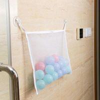 Wholesale toys bathroom resale online - Children Baby Toy Storage Mesh Bag Bathtub Suction Cup Tidy Organizer Bag Kitchen Bathroom Toys Shampoo Organizer Container