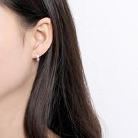 korean moda çember küpeleri toptan satış-Moda Basit S925 Gümüş Yapraklar Küpe Kore Moda Kişilik Yaprak Hoop Küpeler Kadınlar için Parti Takı Brinco