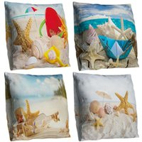 Wholesale starfish bedding resale online - Blue Sky Starfish Throw Pillow Case Cushion Cover Bedding Articles