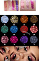Wholesale face glitter for sale - Group buy Fashion Glitter Powder Eye shadow Makeup Waterproof Sequins Bright Stage Eyeshadow Shimmer Glossy Film Newest Eye Face Tattoo Beauty
