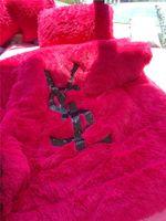 fleece warme bettbezüge großhandel-Fischschuppen Pailletten Brief Bettwäsche-Sets Rosa 2019 Herbst und Winter Plüsch Bettbezug 5 Stück Sets Warm