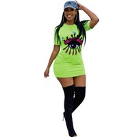 Wholesale polka dot dress ribbon for sale - Women Sequins Big Eye Dress Embroidery Short Sleeve Dresses Summer Fashion Sequins Applique Bodycon Skirt Night Club Plus Size Dress C416