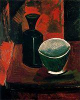 ingrosso vernice verde tela bianca-Pablo Picasso olio Classical Painting Green Pan e nero flacone da 100% a mano dal pittore esperto Su Tela bianca Picasso291