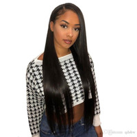 Wholesale real human hair glueless wigs for sale - Group buy Real Remy Human Hair Wigs Silky Straight Glueless Virgin Malaysian Glueless Pre Pluckd Full Lace Straight Human Hair Wigs Free Part