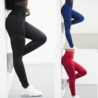 Wholesale sexy yoga pants workout resale online - Sexy Women Yoga Pants High Waist Sports Fitness Running Gym Stretch Athletic Workout Long Leggings Trousers Sportswear