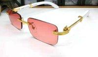 ingrosso anti corno-New designer medusa occhiali da sole di grandi dimensioni in legno con montatura quadrata mens del progettista di marca corno di bufalo occhiali materiale placcato oro anti-UV400