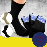 Wholesale performance socks resale online - Mens Anti Bacteria Outdoor Sports Socks Army Socks Army Pile Towel Performance Hiking Socks Brown Black color K217