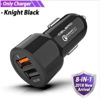 handy-auto-aufladung großhandel-USB-Autoladegerät Zigarettenanzünder-Adapter Autoladegerät Qualcomm Quick Charge QC 3.0 Handy Schnellladegeräte 24V aufladen