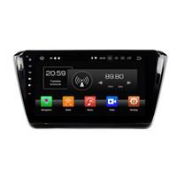 Wholesale din car dvd skoda resale online - Android Octa Core din quot Car DVD Multimedia GPS for Skoda Superb Car Radio Bluetooth WIFI USB DVR GB RAM GB ROM