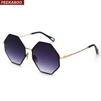 octagon preto venda por atacado-Peekaboo big octagon óculos de sol tendência mulher 2019 ouro preto gradiente de grandes dimensões óculos de sol para os homens do vintage UV400 polígono