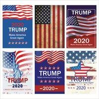 drapeaux de jardin livraison gratuite achat en gros de-Trump 2020 Drapeaux 30 * 45CM 10 styles USA Président Élection Générale Bannière Trump Garden Flag Livraison gratuite