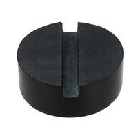prise de disque achat en gros de-2 pcs noir voiture bricolage SUV fendu cadre rail hydraulique plancher Jack disque caoutchouc Pad