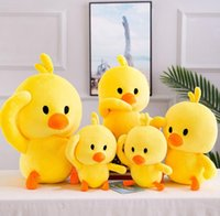 ingrosso simpatico giocattolo farcito d'anatra-Super Little Yellow Duck Plush Toys Carino farcito Cartoon Animal Yellow Duck Dolls Baby Nap Cuscino per bambini Regali di compleanno