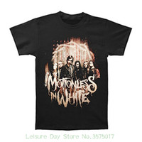 Wholesale quick photo for sale - Group buy Print Tee Men Short Sleeve Clothing Motionless In White Men s Full Photo T shirt Black