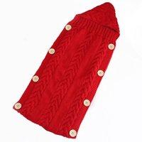 ingrosso nuove borse a crochet-Il nuovo bambino di lana Swaddle Wrap Coperta Busta per neonato ragazzi delle ragazze del Crochet del Knit Maglione Inverno sacco a pelo di alta qualità