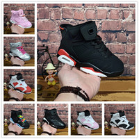 35 altın toptan satış-NIKE AIR JORDAN RETRO shoes Yüksek Kalite Yeni İndirim Çocuklar 6 bebek Basketbol Ayakkabı unc altın siyah kırmızı çocuk 6 s Erkek Sneakers Çocuk Spor düşük eğitmenler boyutu 28-35
