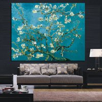 Wholesale impressionist tree paintings for sale - Group buy Van Gogh Blossoming Almond Tree Impressionist Oil Painting Poster Wall Art Pictures for Living Room Home Decor No Frame