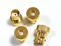 Wholesale sma female to bnc male for sale - Group buy 100 Gold plated BNC Female Jack to Male SMA plug RF adapter connector
